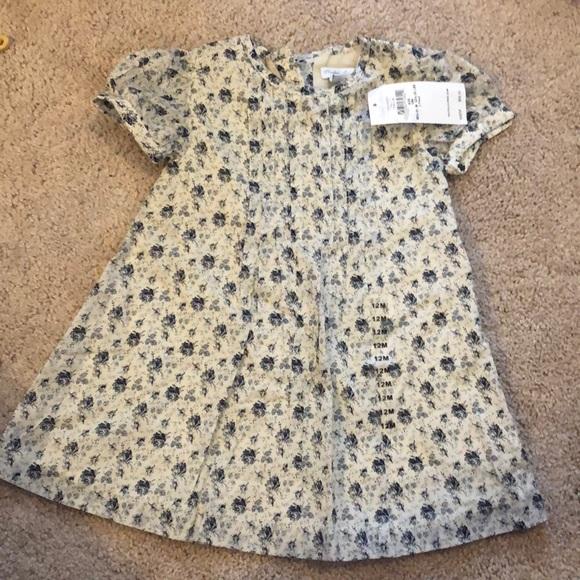 024d0fee Ralph Lauren Baby Girl Dress! 12M - Blue and Cream NWT